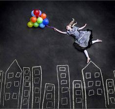 menina voando em seus sonhos