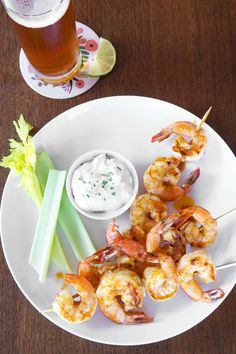 Buffalo Grilled Shrimp Skewers
