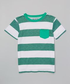 Mint Green & White Stripe Tee - Toddler & Boys