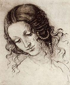 Leonard de Vinci - Dessins - Femmes