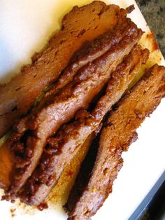 Mmm, seitan brisket!! Gotta make this! It's the seasonings that make it so good and the right texture of the seitan.