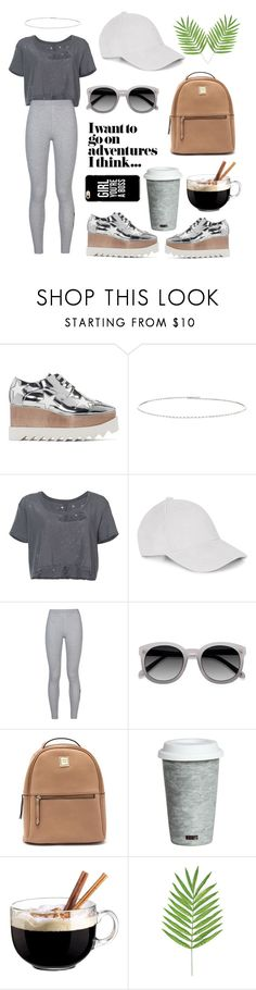 """Going on adventure"" by queen-mina ❤ liked on Polyvore featuring STELLA McCARTNEY, Suzanne Kalan, Unravel, NIKE, Fitz & Floyd and Luminarc"