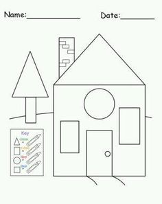Fun and educational craft for preschoolers! Create a house