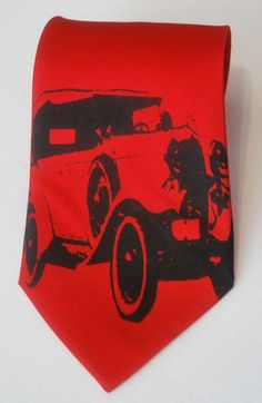 Shoply.com -Classic Car silkscreen neckties with black ink. Microfiber screen printed Vintage Automobile tie.. Only C$30.00
