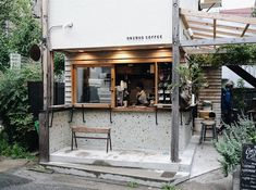 Interior Home Decore Japanese Coffee Shop, Small Coffee Shop, Coffee Store, Coffee Cafe, Cafe Shop Design, Small Cafe Design, Cafe Interior Design, Architectural Digest, Mini Cafe