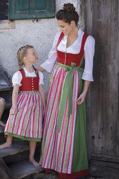 Authentic Lederhosen and Dirndl Dresses - Lederhosen Store Traditional German Clothing, Traditional Dresses, Little Girl Dresses, Girls Dresses, Summer Dresses, Corsage, Drindl Dress, Sound Of Music Costumes, German Costume