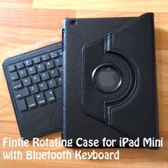 Fintie iPad Mini Rotating Case with Bluetooth Keyboard - sleek, affordable and very useful!  #review #iPad Mini