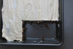Oatmeal Chocolate Chip Cake with Cream Cheese Frosting from Shutterbean