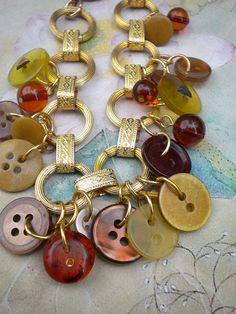 Recycle Antique Vintage Button Bracelet | by enamelowl