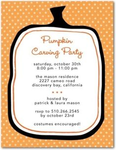 pumpkin carving party! by tammy