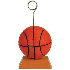$2.40 each (6/14.45) Basketball Photo/Balloon Holder | Party Decorations 50842 Use to hold table numbers, menus or other decorations