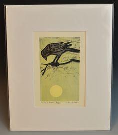 Kent Ambler Crow Woodcut Print