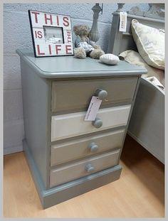 Shades of Grey Chest of Drawers at www.witneywarehouse.com #ShadesOfGrey #ChestOfDrawers #HandPainted #Autentico #ChalkPaint #DIY #Furniture #HomeDecor #InteriorDesign #WitneyWarehouse