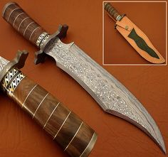 "BUY THE BEST CUSTOM RARE DAMASCUS STEEL HUNTING KNIFE / BOWIE KNIFE ""BTB-431"" #BuytheBest"