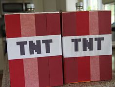 Minecraft birthday party - coke and mentos tnt