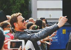 July 11th 2015 - Michael Fassbender is seen taking a selfie with a fan at comic con in San Diego.
