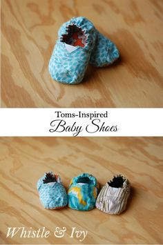 Adorable Sewn Toms-Inspired Baby Shoes - Free Sewing Pattern