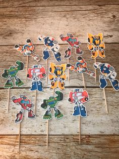 Transformers Rescue Bots cupcake toppers