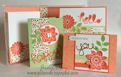 Stampin' Up Boxed Card Set using 'Crazy For You' stamp set & 'Hello You' Thinlits, Gold Soiree DSP.