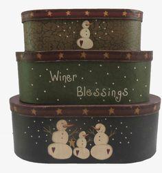 3 Piece Oblong Nesting Box Set