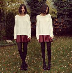 Http://Www.Dahliafashion.Co.Uk/, Borrowed From My Sis Sweater   Faire la gueule (by Nory Aradi)   LOOKBOOK.nu