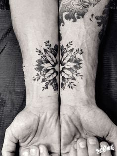 mandala flower arm beautiful @ one o nine tattoo & barber shop Barcelona