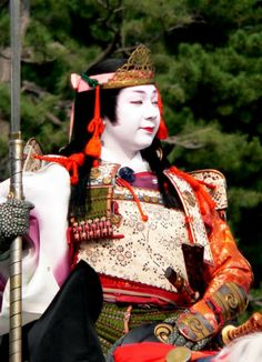 Jidai Matsuri: portrayal of Tomoe Gozen (1157 - 1247 AD) wife of General Kiso Yoshinaka who, legend has it, fought by her husband's side in armor; picture by Ben Adelaide