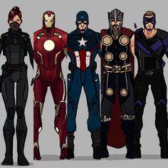 Avengers' comic book look redesigned! Nerd Girl Problems, Superhero Design, Fantasy Weapons, Marvel Universe, Marvel Dc, Deadpool, Avengers, Comic Books, Geek