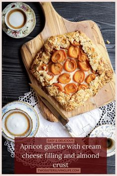 This is an easy and unique recipe for a delicious apricot galette with a vanilla cream cheese filling and almond crust. Wonderfully flavourful and rustic. Perfect for your next Sunday dinner. #galette #pierecipe #apricotrecipe #almondrecipe #dessertrecipe Best Dessert Recipes, Unique Recipes, Brunch Recipes, Fun Desserts, Drink Recipes, Sweet Recipes, Apricot Galette Recipe, Apricot Recipes, Almond Recipes