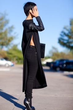 Love her whole look. Tunic by Nini Nguyen.