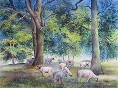 Kerstin Birk Kunst Tiere: Land Pflanzen: Bäume Neuzeit Realismus