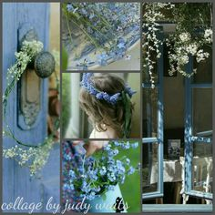 French Blue Summer Collage by Judy Waits
