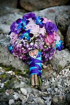 Purples and blue bouquet