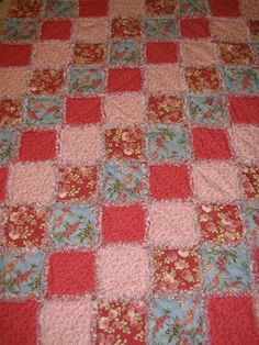 Breast Cancer Rag Quilt