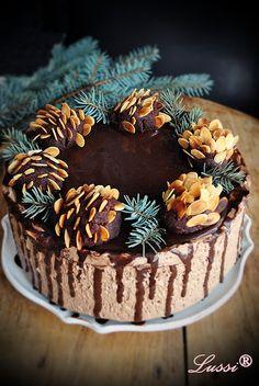 Lussi`s World of Artcraft: Палачинкова торта с шоколадов мус..и шоколадови шишарки :) / Chocolate Mousse Crepe Cake recipe