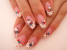 Having short nails is extremely practical. The problem is so many nail art and manicure designs that you'll find online Pink Nail Art, Nail Art Diy, Pink Nails, Ring Finger Nails, Finger Nail Art, Trendy Nails, Cute Nails, Polka Dot Nails, Polka Dots