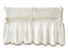 This listing is for: - full crib bumper with natural COTTON batting. Carefully made from soft great quality certified linen fabric. Decorated