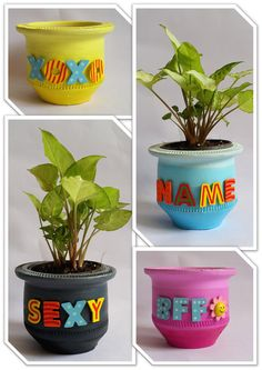 Shade up your decor with these quirky ombre do-ables. #expression #planters #quirkitdesign #ombre #homedecor #DIY #hobby #redesign #upcycle #creativity #craft #style #makeover #QID