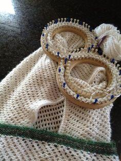 loom knit afghan | lace-loomed afghan blanket