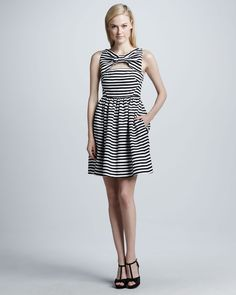 kate spade new york  vivien dress with bow at neckline