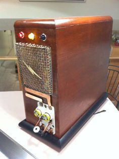 Vintage Radio Computer Tower