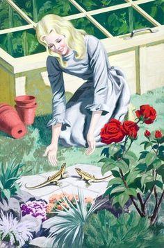 Cinderella -- Cinderella and lizards -- High quality art prints, framed prints, canvases -- Ladybird Prints