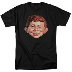 MAD MAGAZINE ALFRED HEAD Adult Regular Fit Short Sleeve T-Shirt