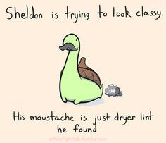 Sheldon the tiny dinosaur who thinks he is a turtle. - All these Sheldon drawings are ridiculously cute!