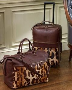 """Diane von Furstenberg Leopard Print Luggage I am not a """"huge"""" leopard print person, but this I like"""
