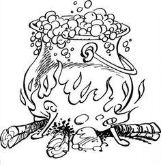 coloriage Coloriage Astérix : la marmite de potion magique