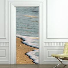 Plage - Stickers Trompe l'oeil - Stickers Déco - Stickers Muraux - Stickers Voyages - Stickers Porte #door #decal #travel #playa #sea #beach #cottage #mer #plage #sable