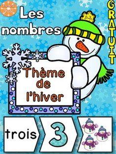 GRATUIT/ Nombres 1-20 - Puzzles - French Numbers - Hiver
