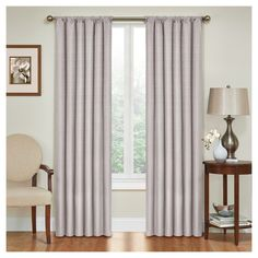 """Kendall Thermaback Blackout Curtain Panel Grey (42""""x95"""") - Eclipse"""