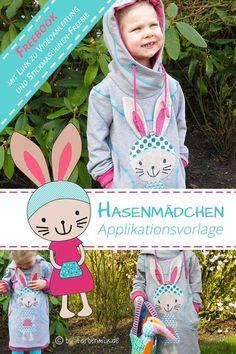 Unser Ostergeschenk für Dich: Hasenmädchen Applikationsvorlage in zwei GrößenDie Hasen-Applikation kannst Du kostenlos downloaden und ausdrucken. Die ausführliche Videoanleitung und ein Stickdatei-Freebie für das Hasen-Gesicht...